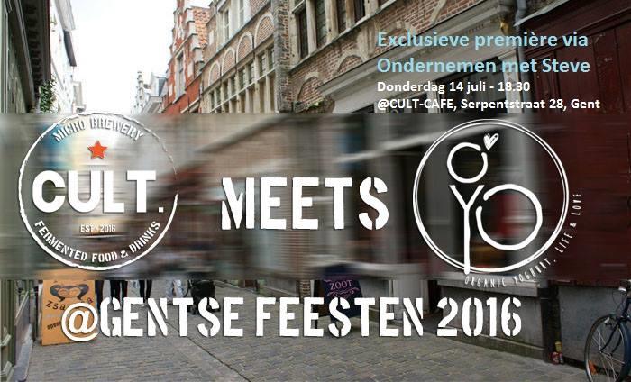 Pre-Gentse feesten meetup voor jonge Gentse ondernemers op 14 juli vanaf 18u: Op bezoek bij foodconcepten Cult. en O'Yo